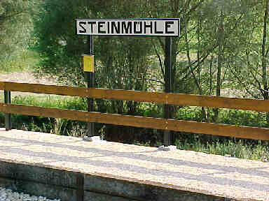 Stationsschild Steinmühle (18 Kb)